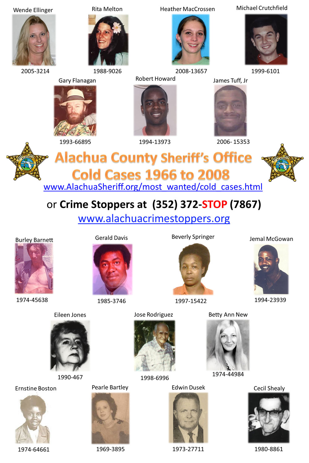 Crime Stoppers - ACSO Cold Cases